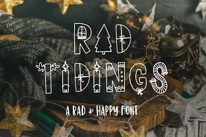 Rad Tidings - HandDrawn Holiday Font