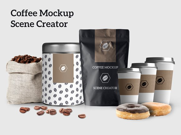 Coffee Mockup Scene Creator-Graphicriver中文最全的素材分享平台