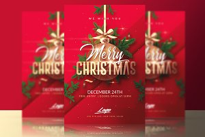 Merry Christmas Template Invitation