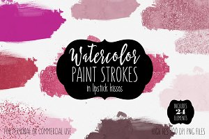Watercolor Paint Forms in Lipstick