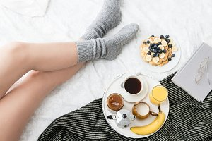 Breakfast in cozy bed VII