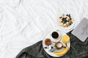 Breakfast in cozy bed IV