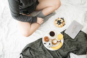 Breakfast in cozy bed III