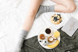 Breakfast in cozy bed I