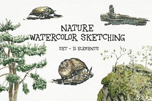 Nature - watercolor sketching