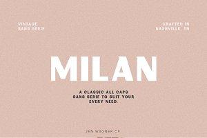 Milan | A Vintage Sans Serif
