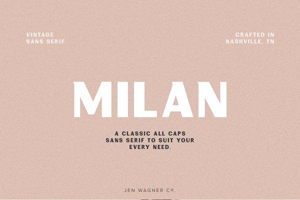 Milan   A Vintage Sans Serif