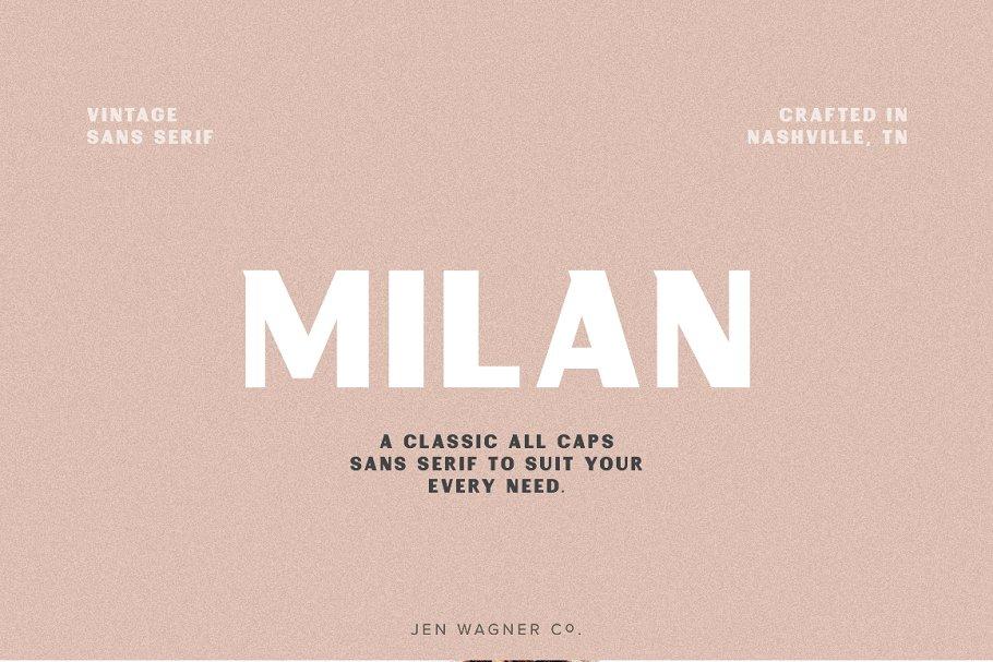 Milan   A Vintage Sans Serif ~ Sans Serif Fonts ~ Creative Market