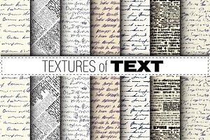 10 seamless textures. Text imitation