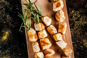 Chicken skewers with rosemary