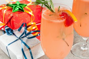 Mimosa drink for Christmas party