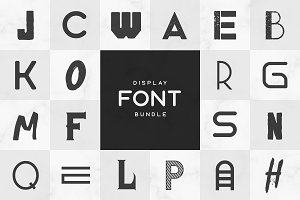 Display Font Bundle • 100+ Fonts
