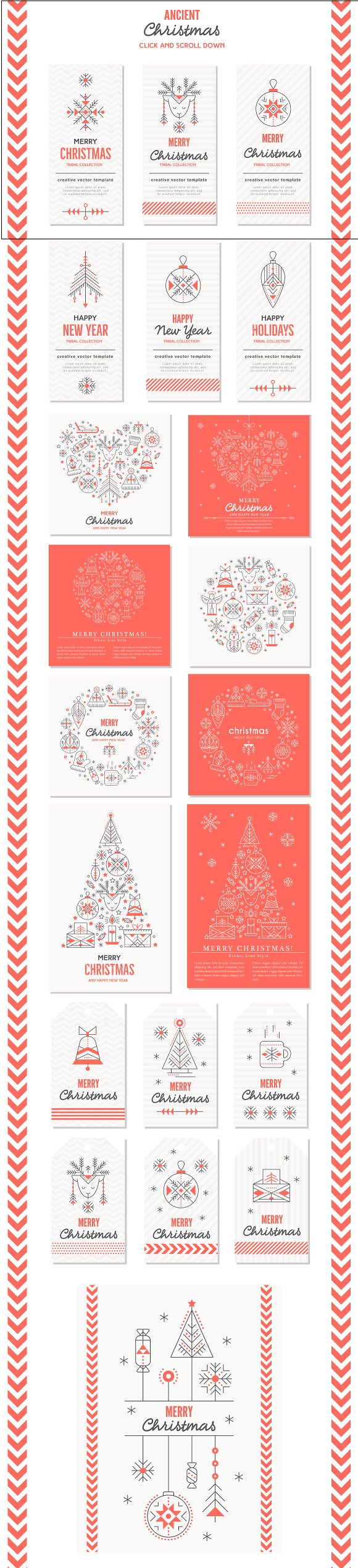 Ancient Christmas: Design Collection ~ Illustrations ~ Creative Market