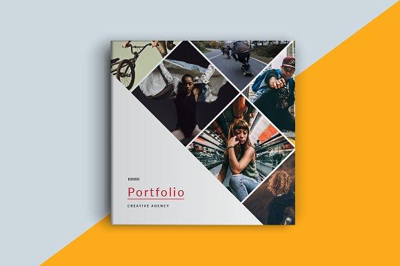 Square Portfolio Brochure T-Graphicriver中文最全的素材分享平台