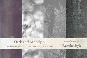 Dark and Moody 14 Photoshop Textures