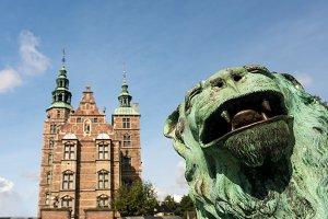 Rosenborg Castle Garden Copenhagen in Denmark