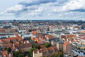 High definition panorama of Copenhagen Denmark