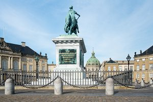 Amalienborg palace in Copenhagen Denmark