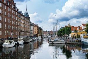 Christianshavns Kanal in Copenhagen Denmark