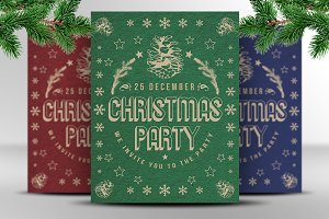 Christmas Retro Party Template