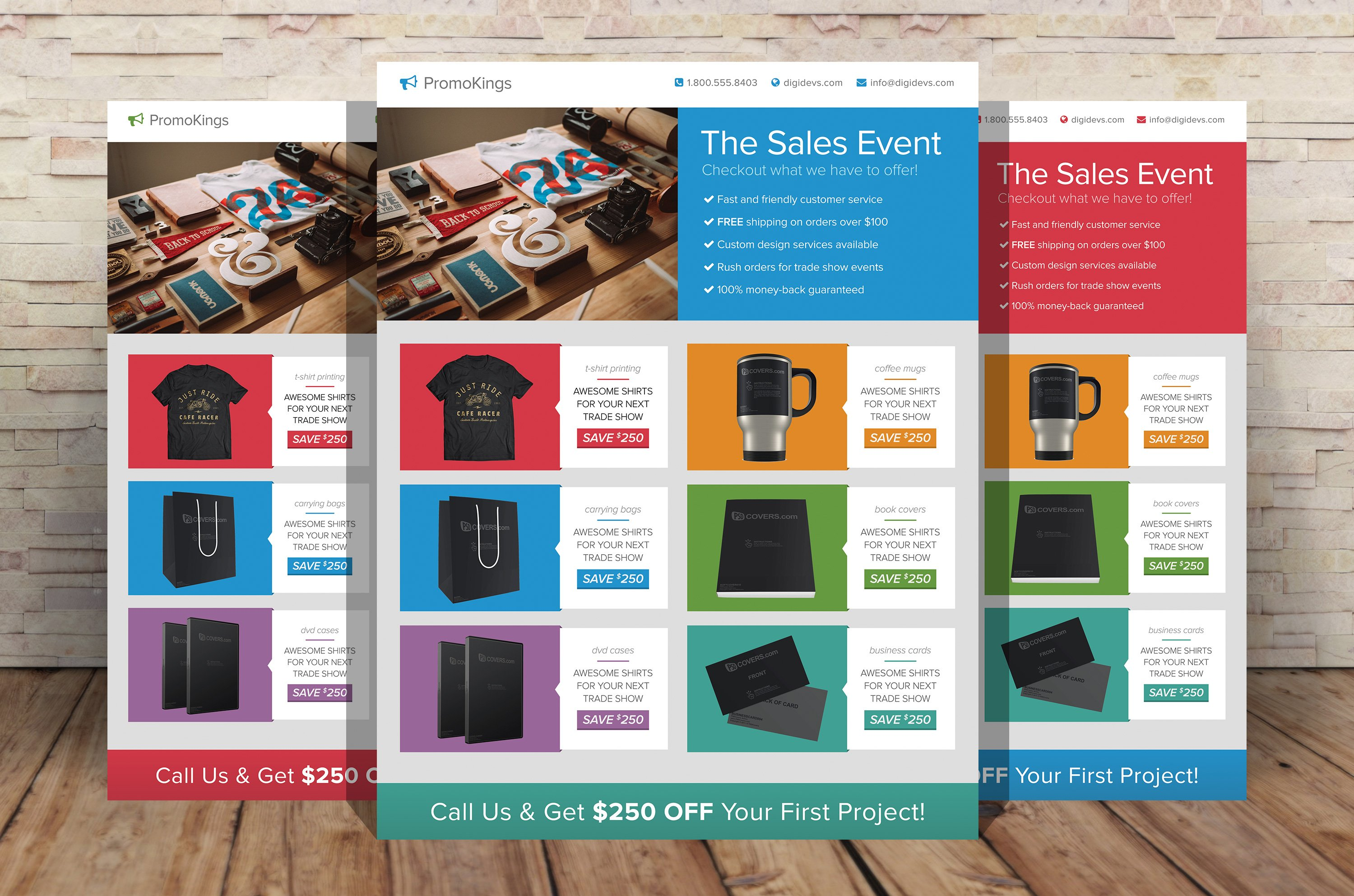 Promotion marketing flyers flyer templates creative market for Product design marketing
