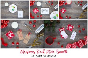 Christmas Stock Photo Bundle: Woods