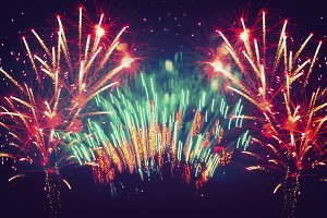 Colorful Holiday Firework