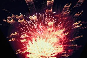 Holiday Firework lighting on dark