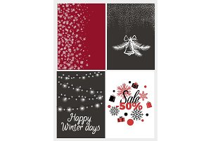 Happy Winter Days Sale Half Price, Fifty Percent