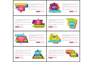 Fantastic Offer with Sale Internet Page Templates