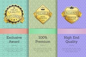 Exclusive Award 100 % Premium High Quality Labels