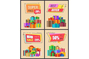 Super Price -20% Best Offer Vector Illustration