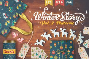 Winter Story. Collection of patterns