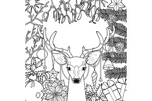 Christmas Deer Greeting Card