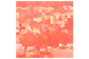 Orange Abstract Low Polygon Backgrou