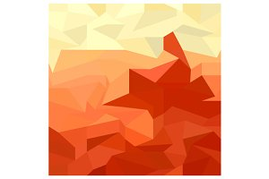 Red Abstract Low Polygon Background