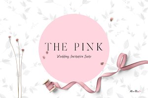 The Pink - Wedding Invitation Suite