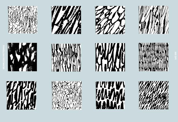 Calligraphy patterns in Patterns - product preview 1