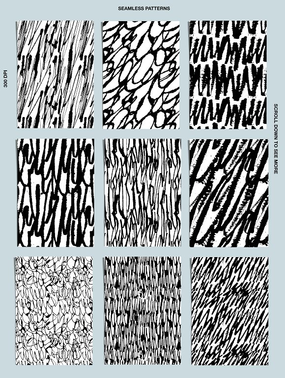 Calligraphy patterns in Patterns - product preview 3