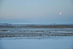 Icelandic Moonlight at Dusk