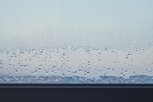 Rain and Ice on a Window Sill