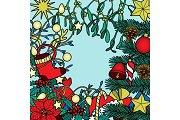 Christmas Colorful Composition