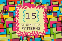 15 seamless pattern with squares