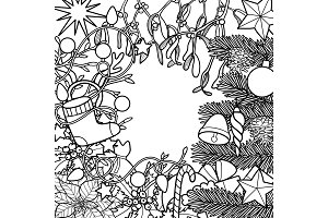 Christmas Outline Composition