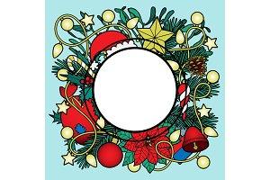Christmas Colorful Frame