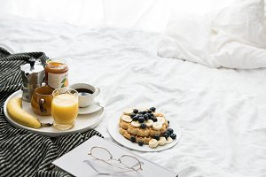 Breakfast in cozy bed IX