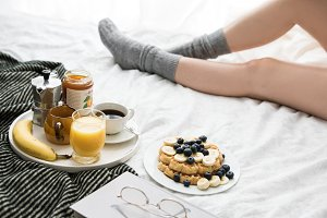 Breakfast in cozy bed XII