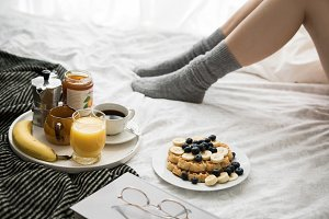 Breakfast in cozy bed XIII