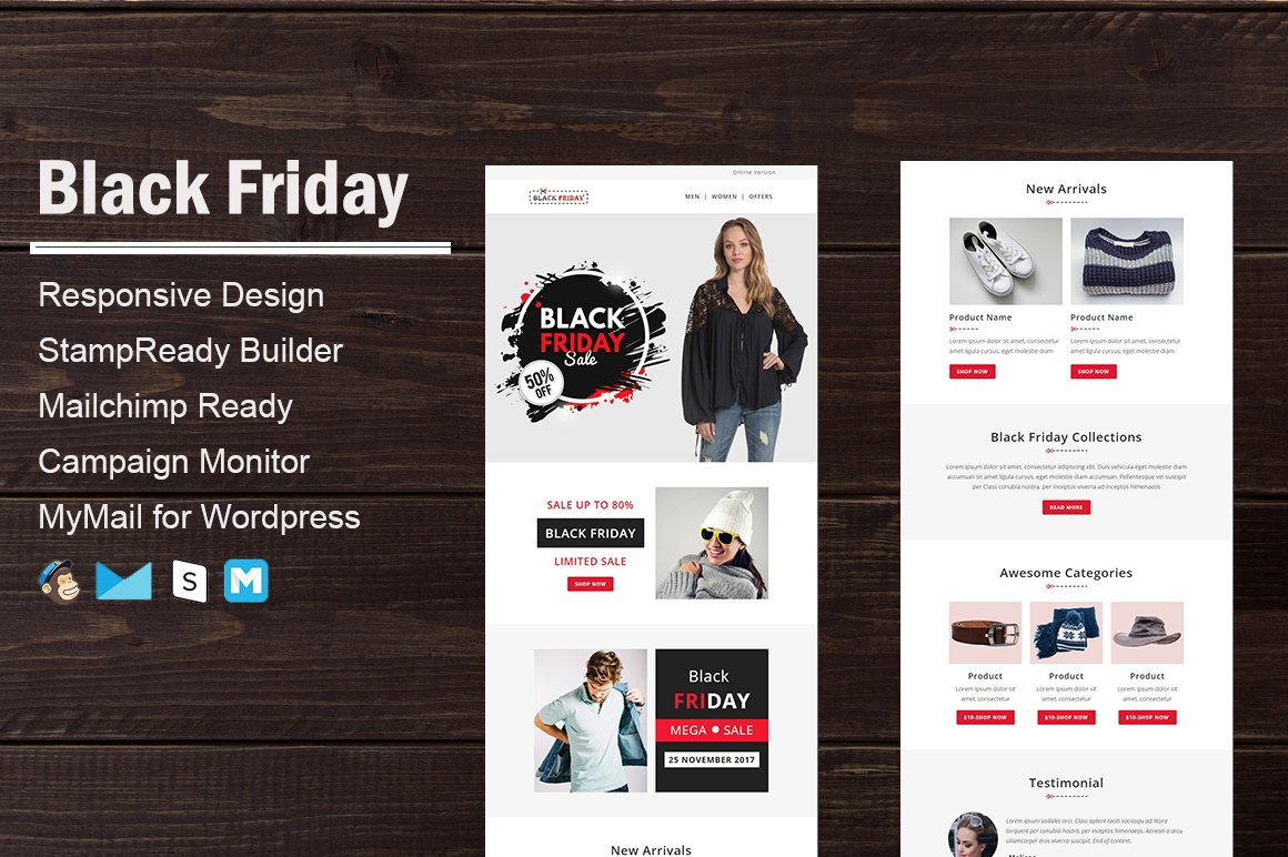 Black Friday & Christmas Emails ~ Email Templates ~ Creative Market