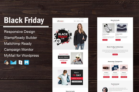 Black Friday Email Template Email Templates Creative Market